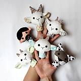 Hračky - Sada maňušiek na prst (Rozprávka o vlkovi a kozliatkach - na objednávku) - 9025828_