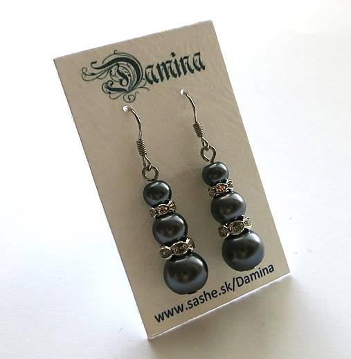 Peličky s rondelkami (šedá)   Damina - SAShE.sk - Handmade Náušnice cb0d308f77c