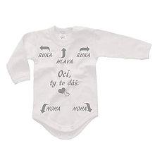 Detské oblečenie - Oci, ty to dáš - detské body - 9024144_