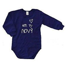 Detské oblečenie - Som tu nový - detské body - 9024158_