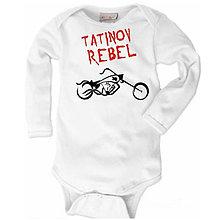 Detské oblečenie - Tatinov rebel - detské body - 9024181_