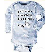 Detské oblečenie - Párty u mňa v postieľke - detské body - 9024187_