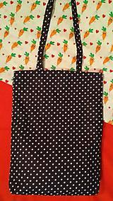 Nákupné tašky - Tmavomodrá bodkovaná taška - 9026046_