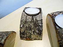 Svietidlá a sviečky - Svietnik drevený -breza - 9025667_