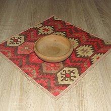 Úžitkový textil - Inca vzor červeno pieskový - obrus štvorec 40x40 - 9027015_
