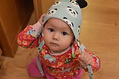 Detské čiapky - čiapočka s uškami - 9026888_