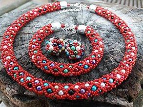 Sady šperkov - COLORAMA RED NET - vyskladaj si vlastnú sadu - 9025926_