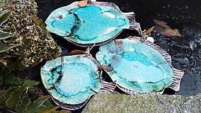 Nádoby - Podnosy  rybky- súprava  (Tyrkysová) - 9026562_