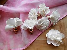 - Textilné kvety - pár (viac druhov) (Biela) - 9024801_