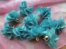 - Textilné kvety - pár (viac druhov) (Tyrkysová) - 9024803_