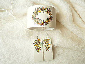 Sady šperkov - Sada kožená, maľovaná - 9024793_