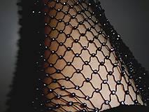 Sieťka s kamienkami  (Čierna)