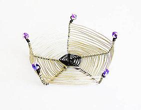 Krabičky - Mini dekoratívna miska - drôtená - 9024325_