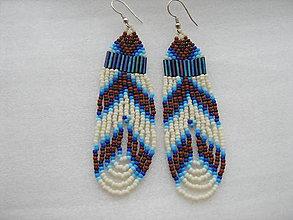 Náušnice - indiánska zima - 9026940_