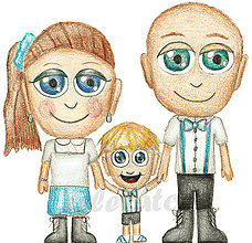 Kresby - NA ZÁKAZKU - karikatúra kresba podľa fotopredlohy - 9026090_