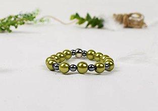Náramky - Náramok Zelený perličkový - 9030968_