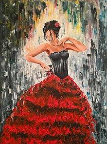 Obrazy - Španielska tanečnica - 9028081_