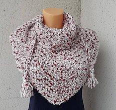 Šatky - pletená šatka na zimu - 9028145_