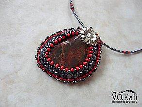 Náhrdelníky - Agatha - jaspis so železom - 9031018_