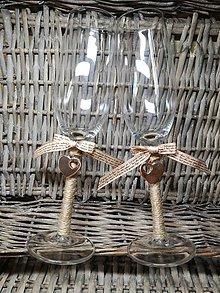 Nádoby - Svadobné poháre s príveskom - 9031682_
