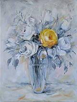 Obrazy - Žltá ruža II - 9030581_