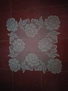 Úžitkový textil - Háčkovany obrus - 9027701_