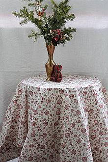 Úžitkový textil - Obrus. Krásny folklórny motív 120 x 140 cm - 9028609_