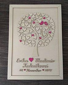 """Dekorácie - Svadobný strom """"Birds of love"""" - kniha hostí - 9028251_"""
