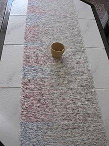 Úžitkový textil - RUČNĚ TKANÝ STREDOVÝ OBRUS 12 - 9030323_