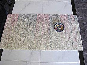 Úžitkový textil - RUČNĚ TKANÝ STREDOVÝ OBRUS 9 - 9030817_