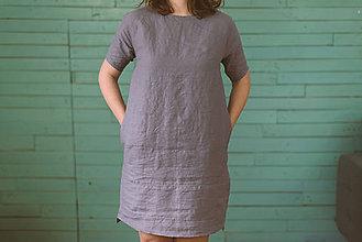 Šaty - miljö ľanové šaty - bekväm - 9031334_