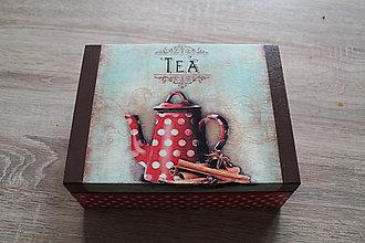 Krabičky - Krabička na čajové vrecúška - 9028169_
