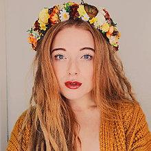 Ozdoby do vlasov - Hippie slnečný venček - 9030803_