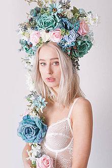 Ozdoby do vlasov - Veľká kvetinová lúčna čelenka - 9031265_