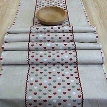 Úžitkový textil - Režné variácie bordo  - stredový obrus (2) (180 cm x 40 cm) - 9030547_