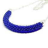 SNAKE kráľovská modrá - elegantný náhrdelník