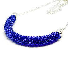 Náhrdelníky - SNAKE kráľovská modrá - elegantný náhrdelník - 9027942_