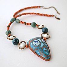 Náhrdelníky - Modrý náhrdelník II - 9031575_