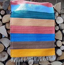 Úžitkový textil - pestrofarebný froté koberček - 9033800_