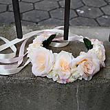 Svadobná parta, čelenka jemná pastelová