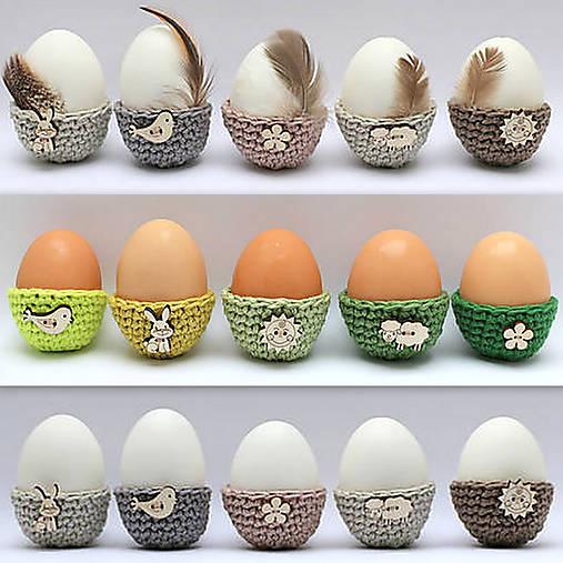 Dekorácie - Mini košíčky na vajíčka (100% biobavlna), 5 ks - 9034466_