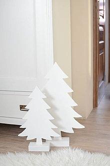 Dekorácie - Biele stromčeky - 9033856_