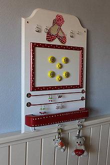 Nábytok - Organizér,vešiak na šperky,tabuľa - 9035594_