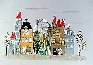 Obrazy - Skleník 11 ilustrácia  / originál maľba  - 9033002_