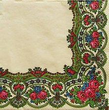 Papier - S1125 - Servítky - folk, folklórny, ľudový, orientálny, výšivka - 9032590_