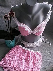 Bielizeň/Plavky - Rúžové plavky - 9034427_