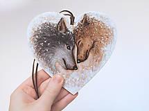 Obrazy - Drevené maľované srdce - Silné puto - 9036763_