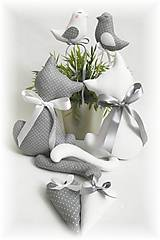 Dekorácie - Bielo-sivá sada - 9032700_