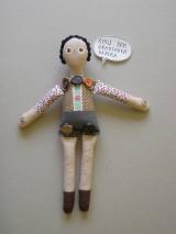 Gombíková bábika Matyáš