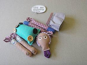 Hračky - Gombíková bábika Violka - 9033375_
